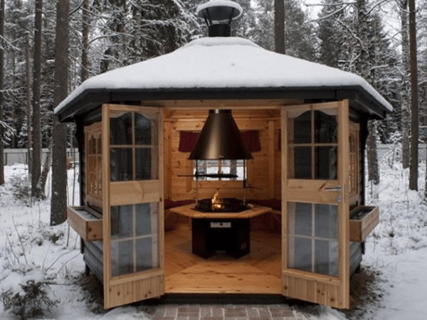 Аренда зимних теплых беседок для отдыха и шашлыков