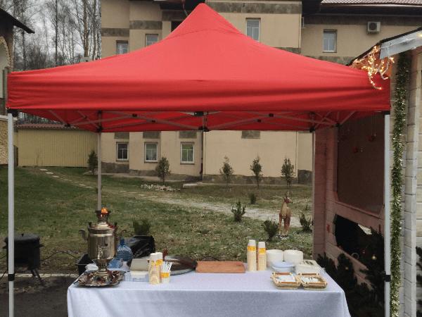 Выездная кухня в шатре